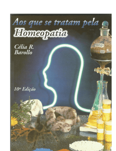 do Livro - Instituto de Homeopatia James Tyler Kent
