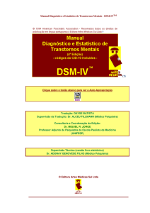 MANUAL DSM-IV - Blog da Psicologia Unimar