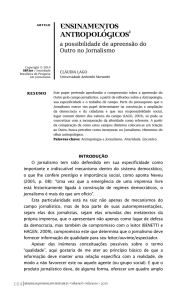 ensinamentos antropológicos1 - Brazilian Journalism Research