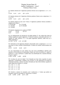 analise combinatoria lista C