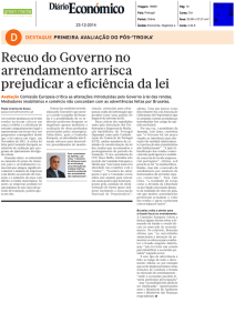 Recuo do Governo no arrendamento arrisca prejudicar a