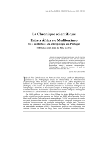 La Chronique scientifique
