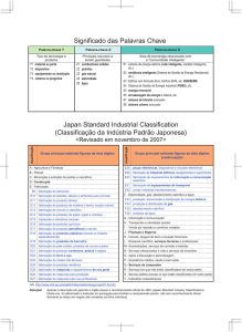Japan Standard Industrial Classification (Classificação da Indústria