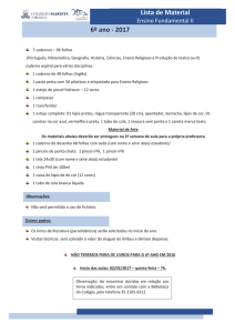 6º ano – Ensino Fundamental