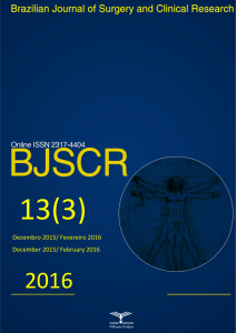 Brazilian Journal of Surgery and Clinical Research