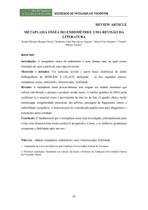 review article metaplasia óssea do endométrio: uma revisão