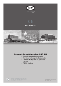 DATA SHEET Compact Genset Controller, CGC 400