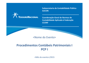 PCP I - Secretaria do Tesouro Nacional