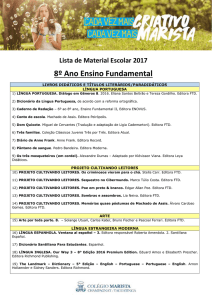 8º ano – Ensino Fundamental II 2017