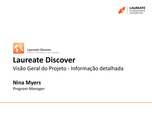 Laureate Discover Project Overview Nina Myers Program Manager