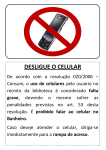 Cartaz do Celular.