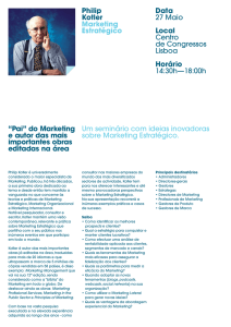 Philip Kotler Marketing Estratégico Data 27 Maio