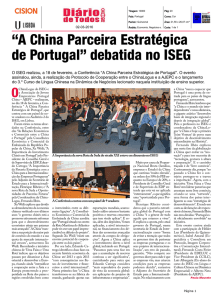 """A China Parceira Estratégica de Portugal"" debatida no ISEG"