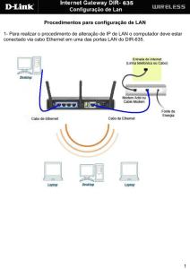 Alterar IP de LAN - D-Link