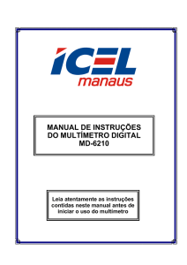 manual de instruções do multímetro digital md-6210