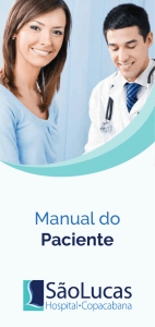 Manual do Paciente - São Lucas Copacabana