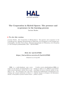 The Cooperation in Hybrid Spaces: The presence and co