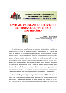 benjamin constant de rebecque e as origens do liberalismo