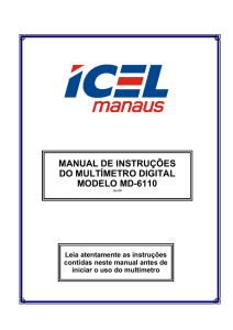 manual de instruções do multímetro digital modelo md-6110