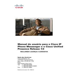 Sobre o Cisco IP Phone Messenger