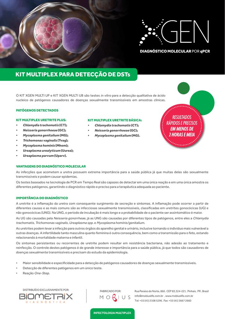 KIT MULTIPLEX PARA DETECÇÃO DE DSTs - Biometrix