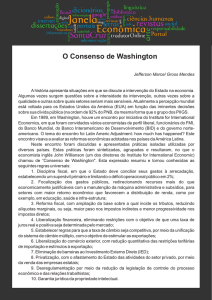 O Consenso de Washington