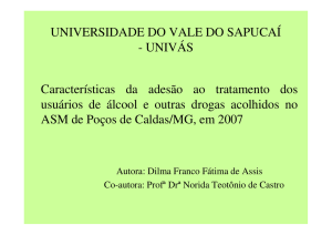 UNIVERSIDADE DO VALE DO SAPUCAÍ