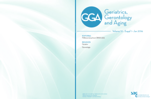 editorial - Geriatrics, Gerontology and Aging