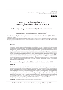 Political participation in social policy`s construction