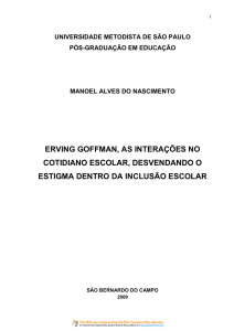 ERVING GOFFMAN, AS INTERAÇÕES NO COTIDIANO ESCOLAR