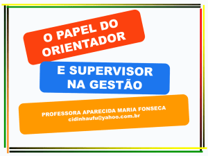O papel do supervisor escolar.