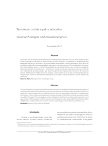 Tecnologias sociais e práxis educativa Social technologies and