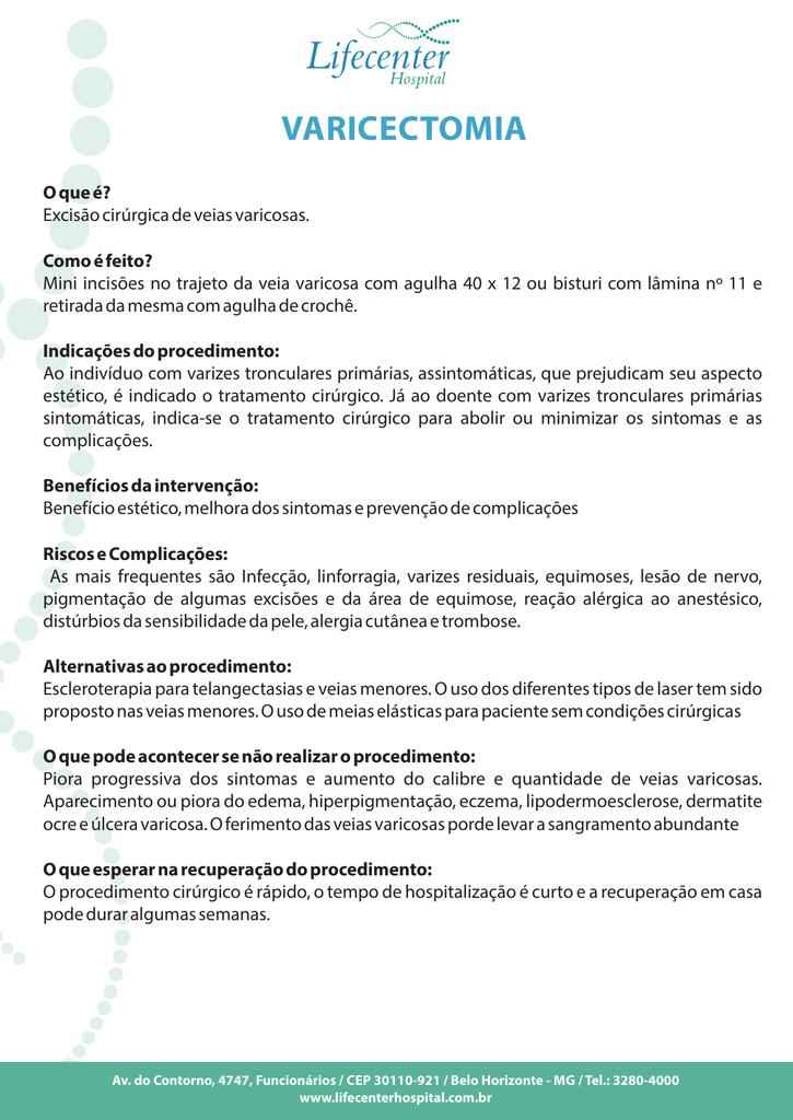 40 spital tratament varicoză)