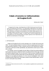 Estado e Economia no Institucionalismo de Douglass North
