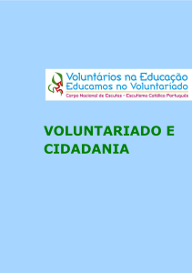 voluntariado e cidadania - Ano Europeu do Voluntariado
