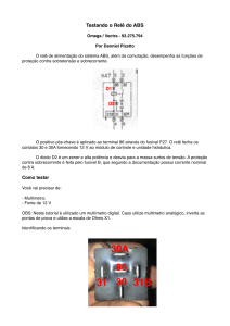 Tutorial Rele ABS - Pizatto