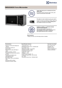 EMS20300OX Forno Microondas