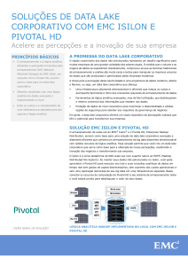 soluções de data lake corporativo com emc isilon e pivotal hd