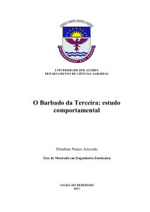 O barbado da Terceira : estudo comportamental