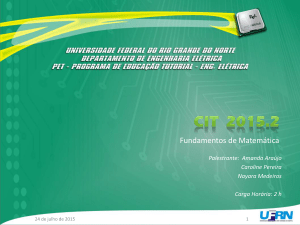 Fundamentos de Matemática - PET-EE