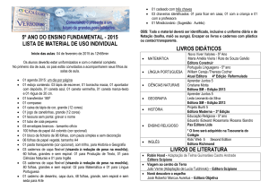 5º ano do ensino fundamental - 2015 lista de material de uso