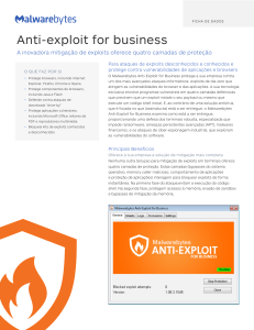 Anti-exploit for business