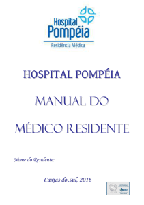 HOSPITAL POMPÉIA MANUAL DO MÉDICO RESIDENTE