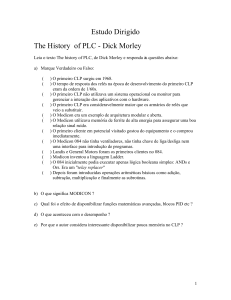 Estudo Dirigido The History of PLC - Dick Morley