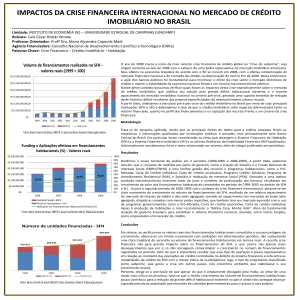 Volume de financiamentos realizados no SFH