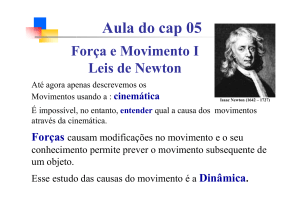 Aula do cap05 Leis de Newton