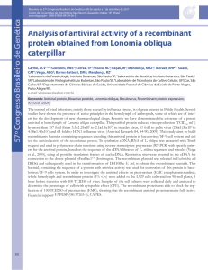 Analysis of antiviral activity of a recombinant protein obtained from