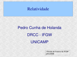 Relatividade - Sites do IFGW