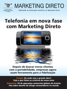Revista Marketing Direto - Número 101, Ano 10, Setembro