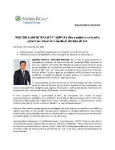 WOLTERS KLUWER TRANSPORT SERVICES abre escritório no